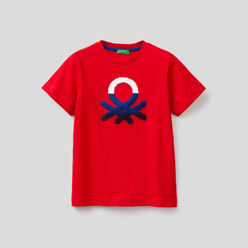 T-Shirt aus 100% Baumwolle mit Logo
