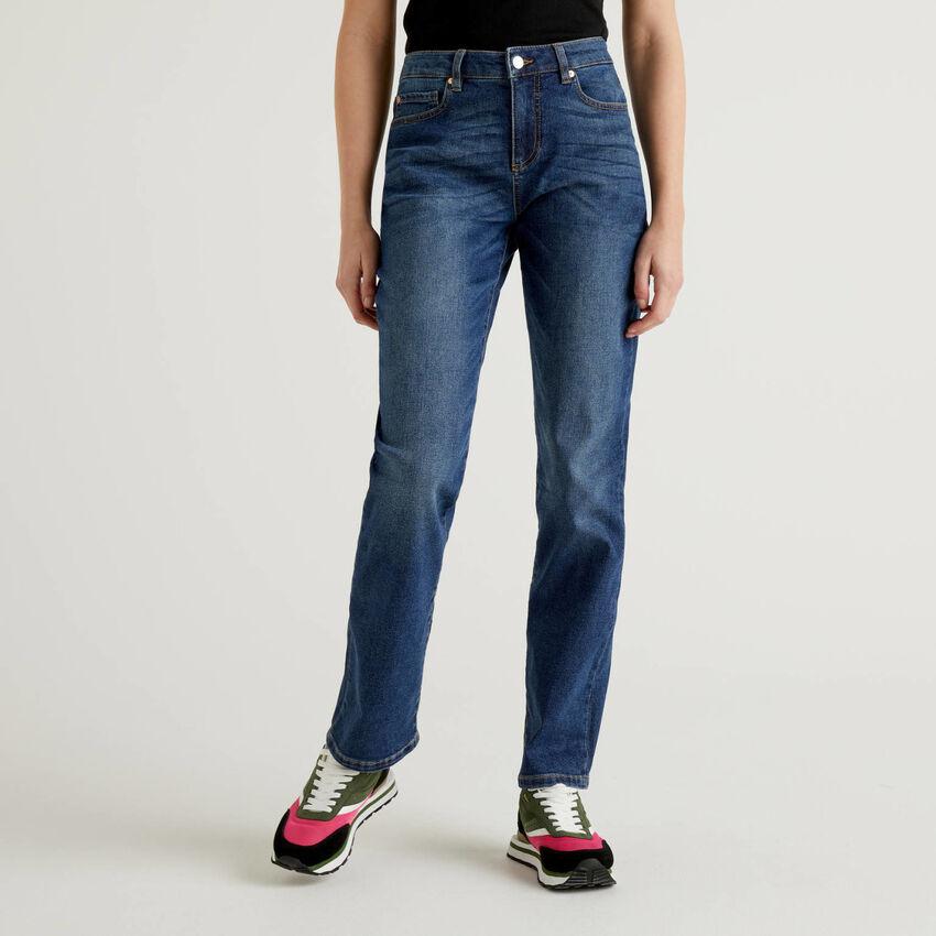 Slim-Fit-Jeans mit geradem Bein