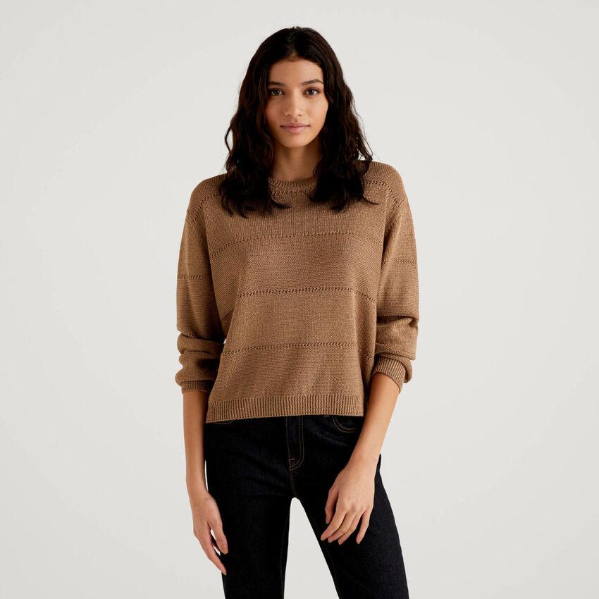 Pullover mit Lurexfaden