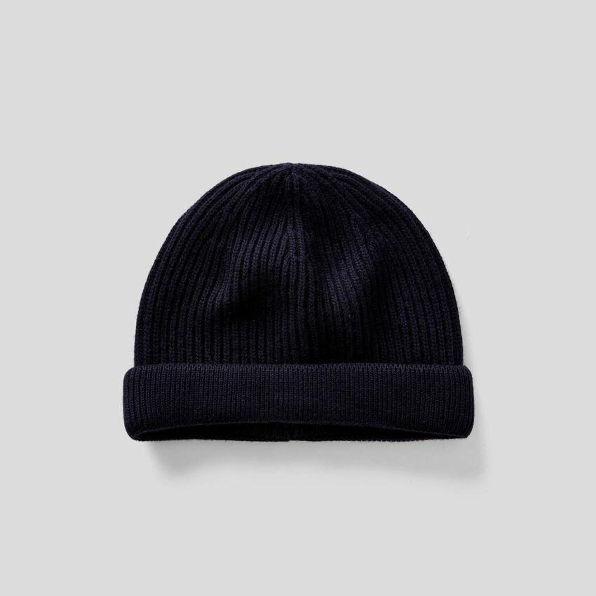 Mütze in einer Mischung aus Wolle und Cashmere