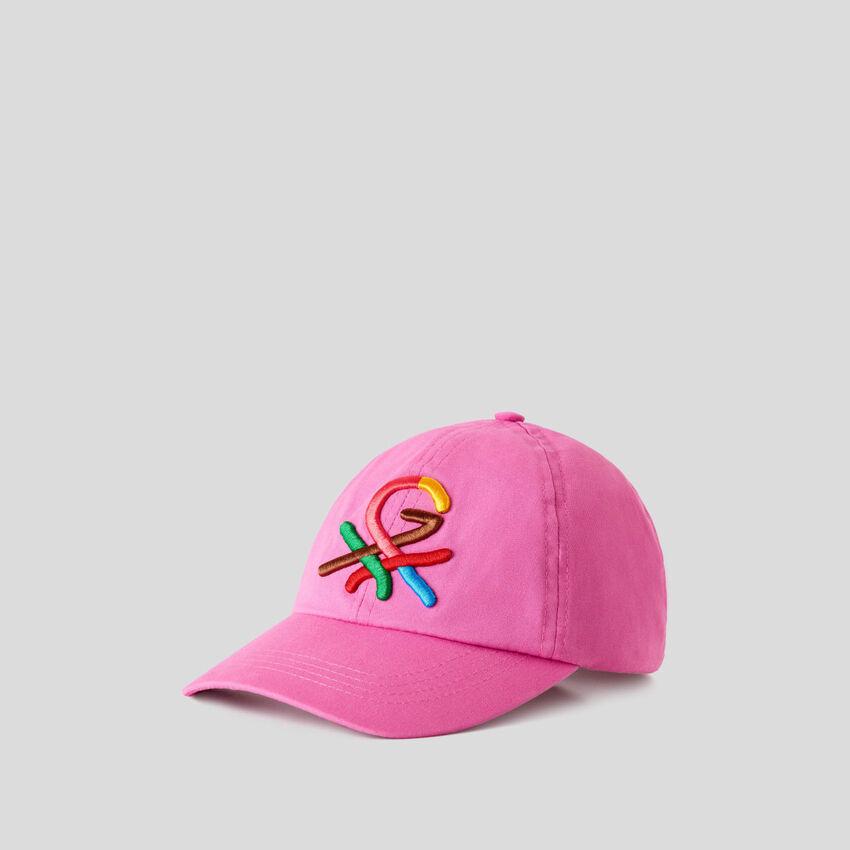 Mütze in Fuchsia mit aufgesticktem Logo by Ghali