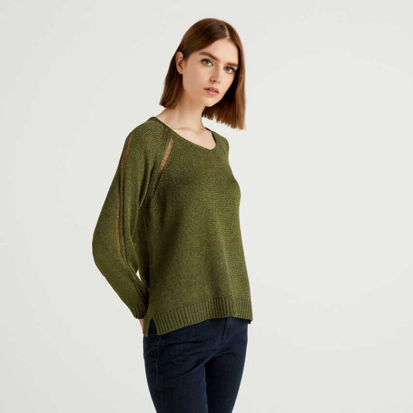 Pullover mit Detail in Form von großen Mustern