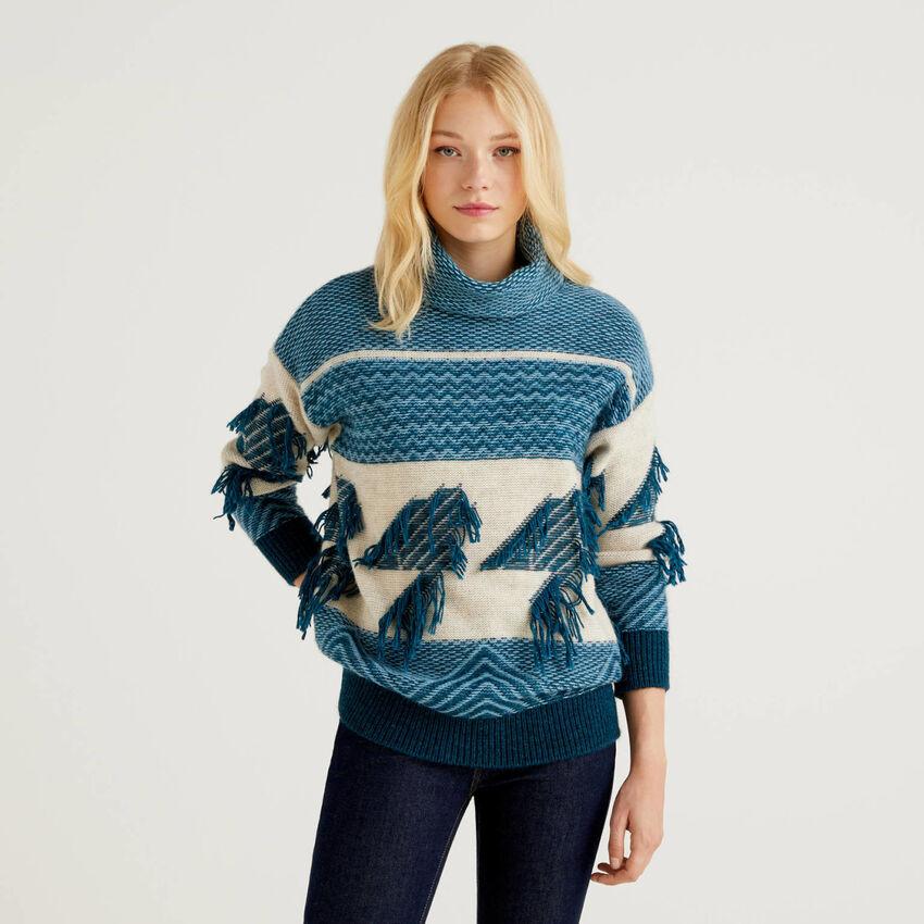 Pullover mit Jacquard-Verarbeitung