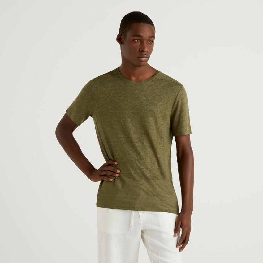T-Shirt aus reinem Leinen