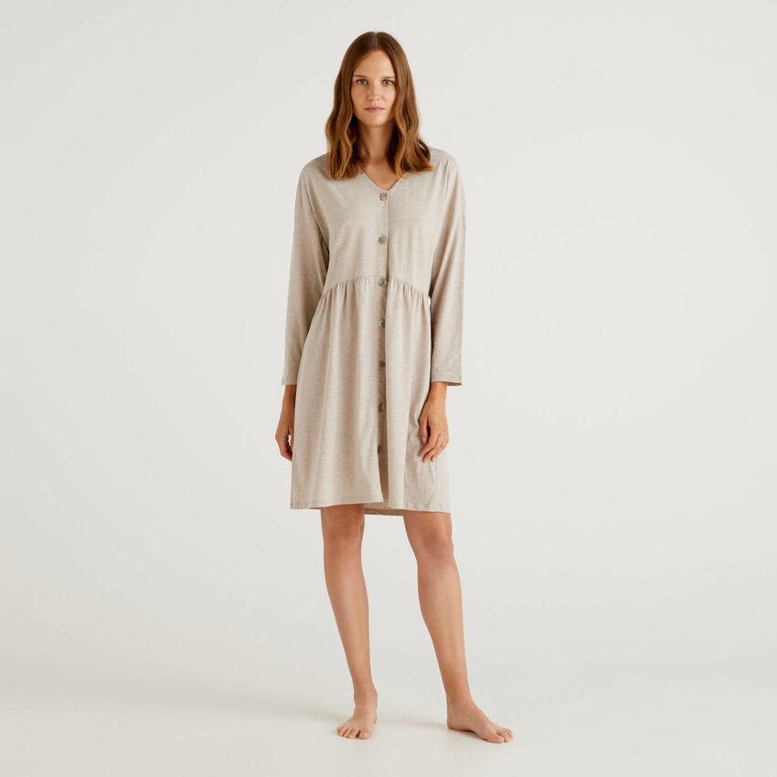 Nachthemd aus langfaseriger Baumwolle