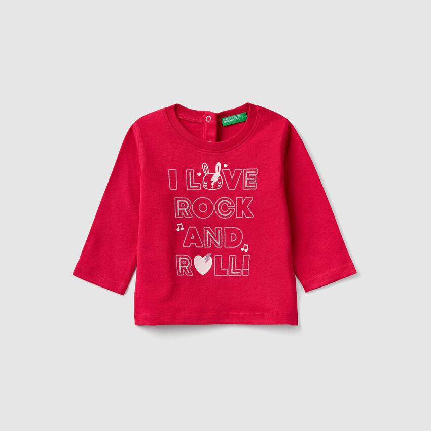 T-Shirt mit Glitterprints