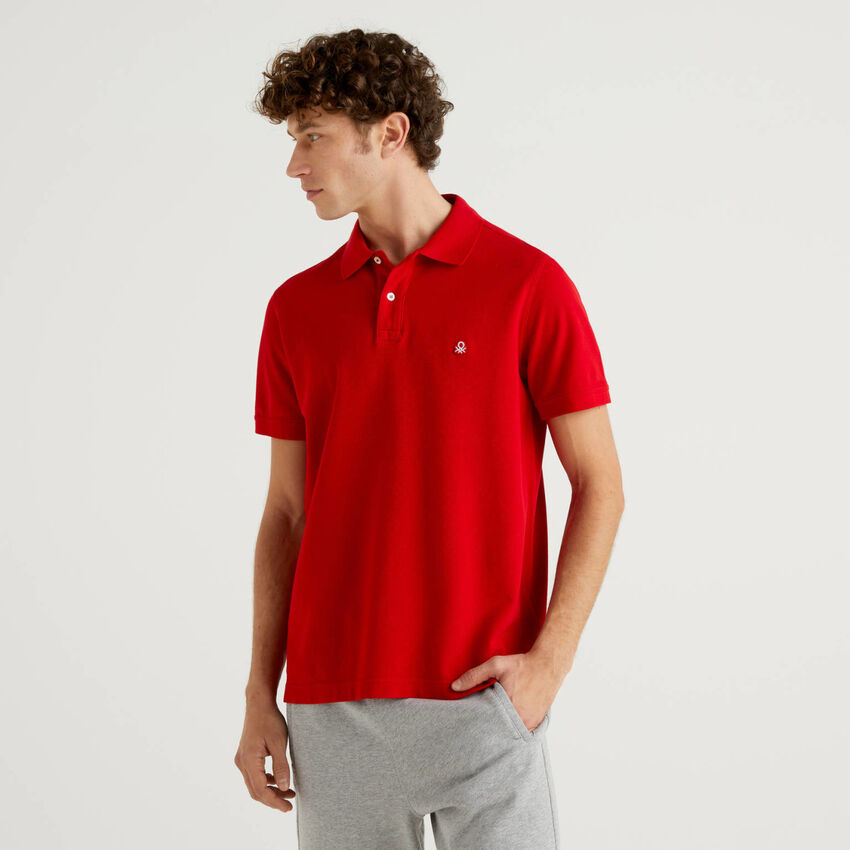 Regular-Fit-Polo in Rot