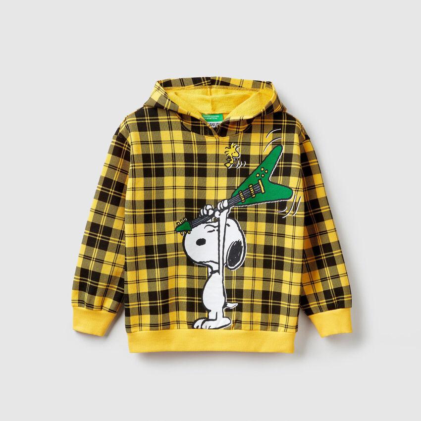 """Sweatshirt """"Peanuts"""" mit Karomuster"""