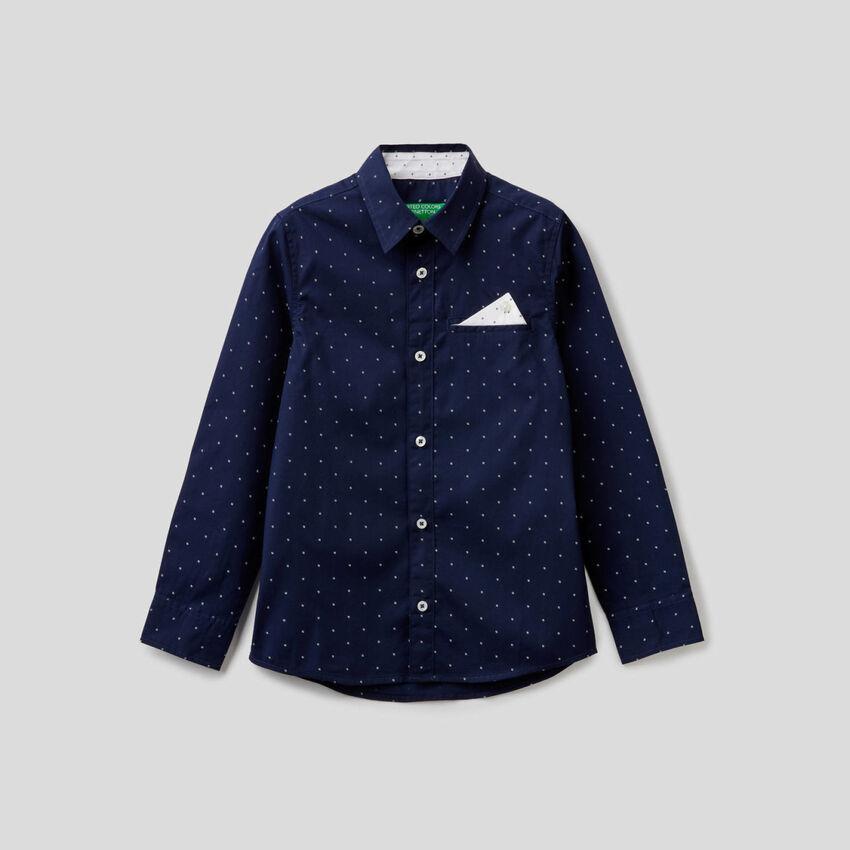 Hemd aus 100% Baumwolle mit Mikromuster