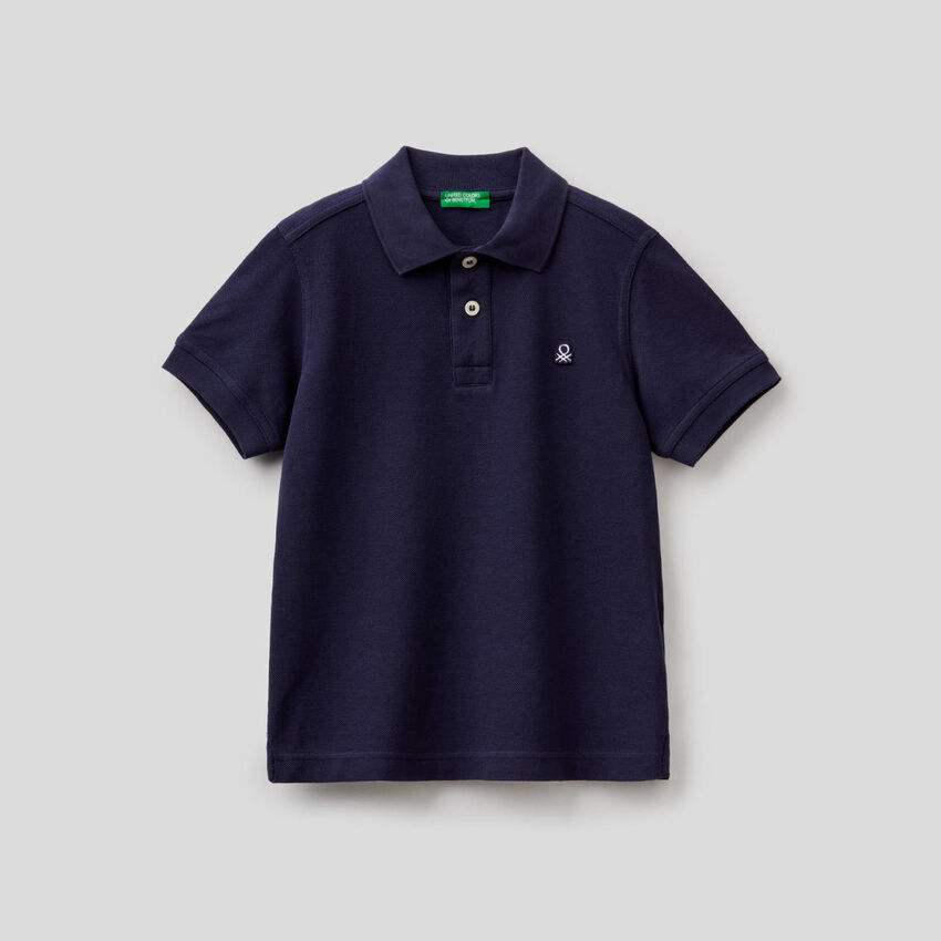 Polo aus Piquet in reiner Baumwolle