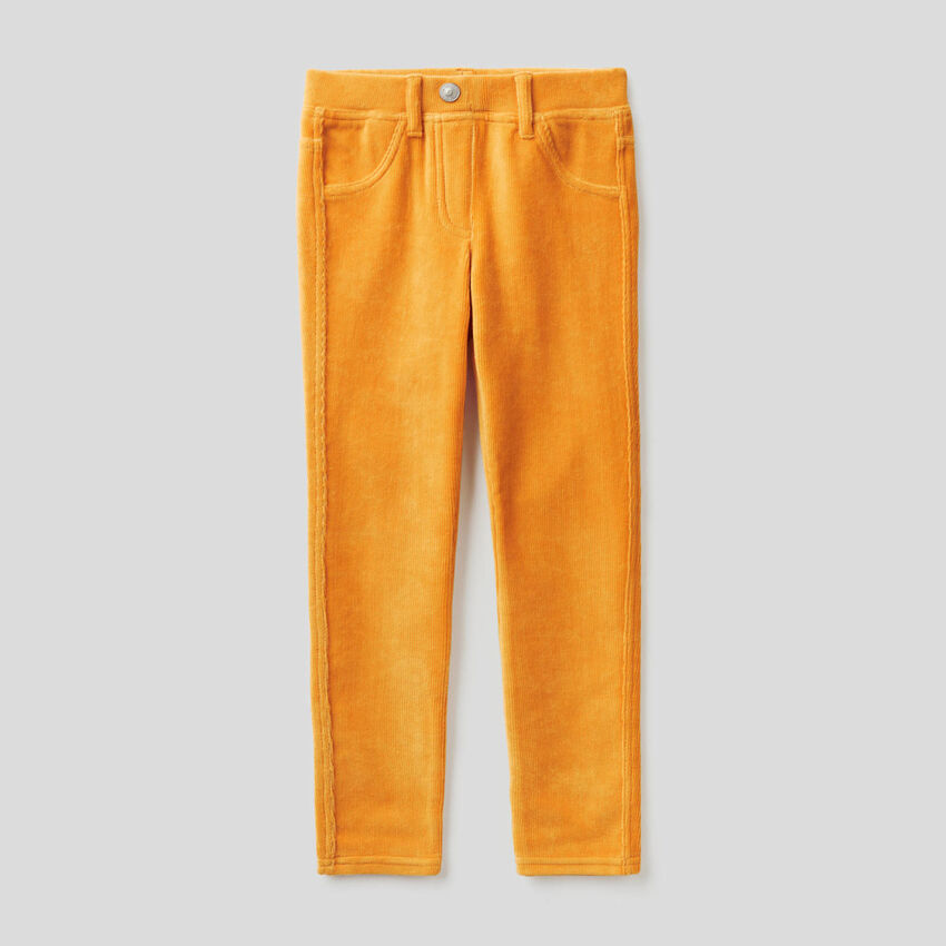 Super-Skinny-Hose aus Chenille