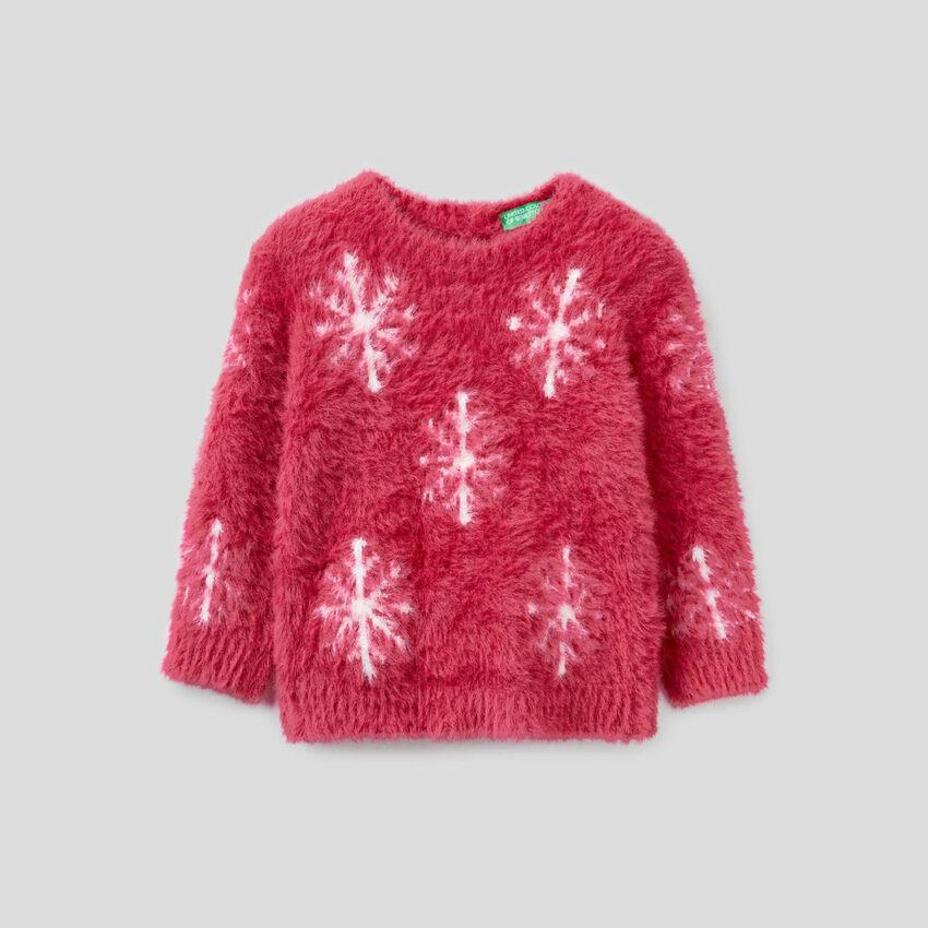 Pullover mit Schneekristallmuster