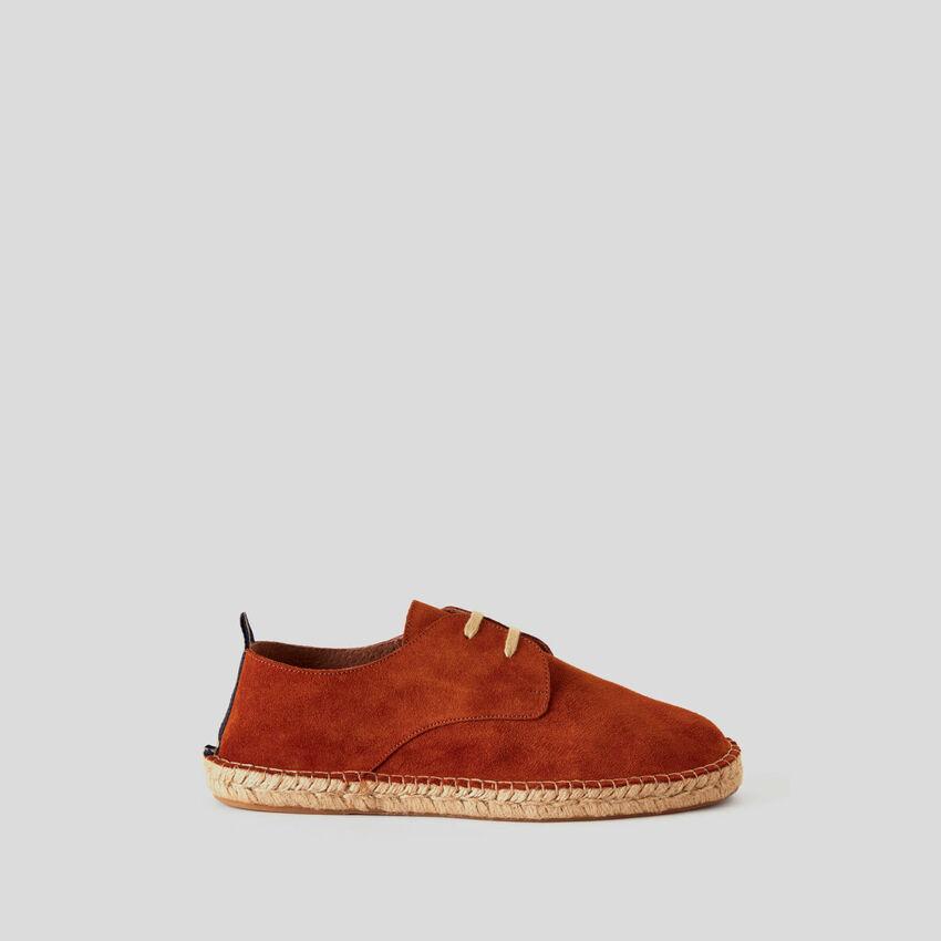Derby-Schuhe aus echtem Rauleder