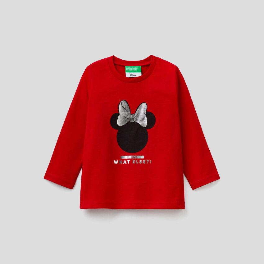 Minnie-T-Shirt mit langen Ärmeln