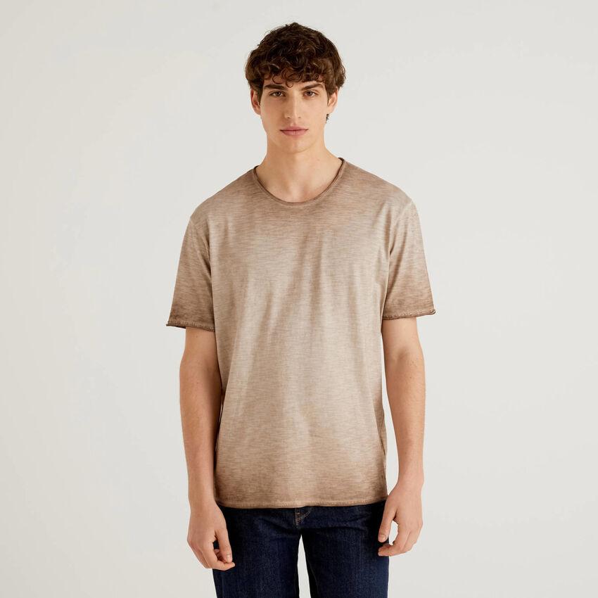 T-Shirt aus Baumwolle mit nuanciertem Effekt