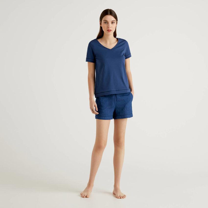 Pyjama-Set mit T-Shirt und Shorts