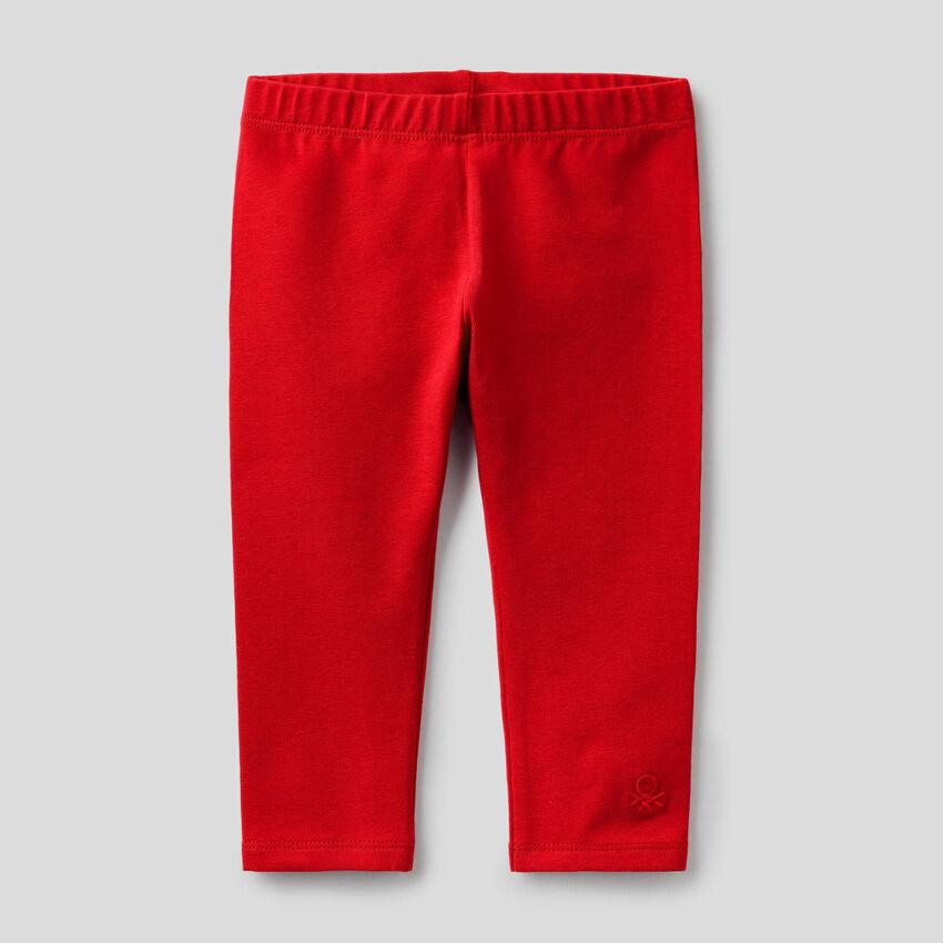 Rote Leggings aus stretchiger Baumwolle