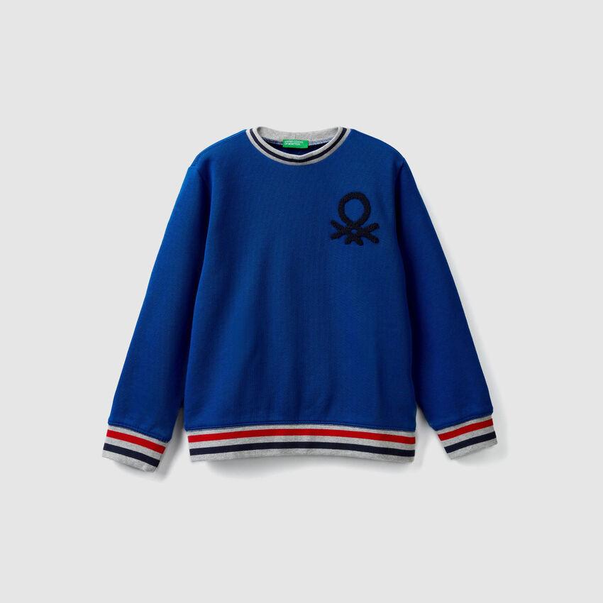 Sweatshirt mit Rundausschnitt und Logo