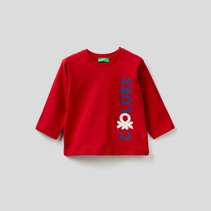 Langärmeliges T-Shirt aus Biobaumwolle