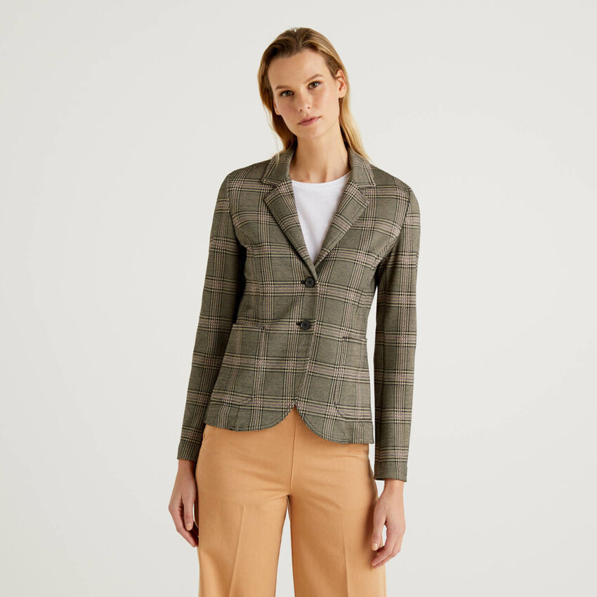 Blazer im Prince-of-Wales-Muster