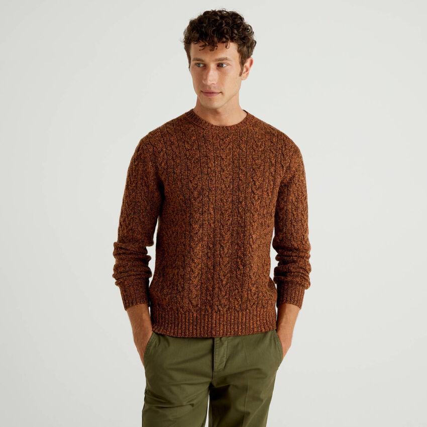 Pullover aus reiner Shetlandwolle