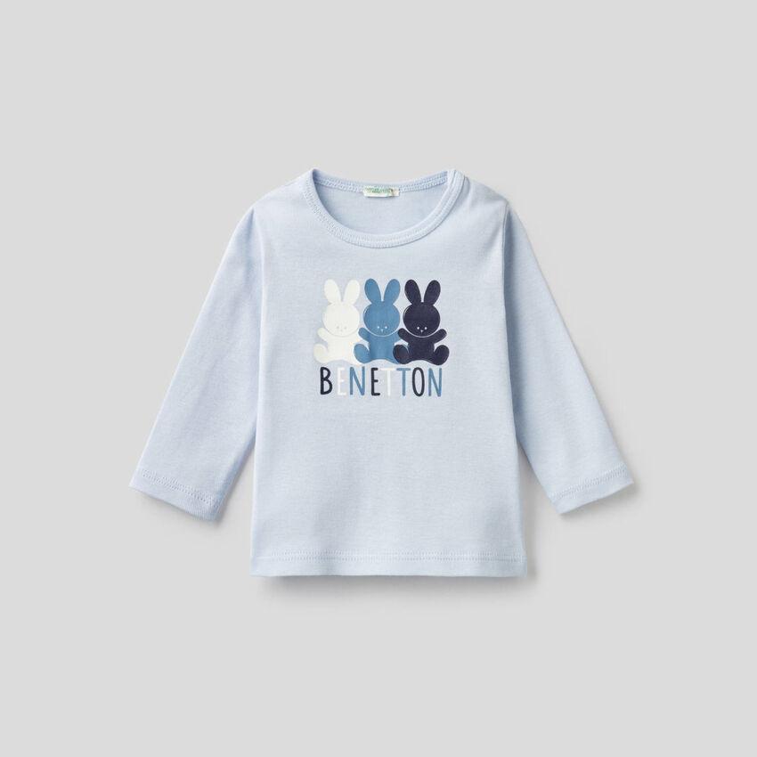 T-Shirt aus 100% Bio-Baumwolle mit langen Ärmeln