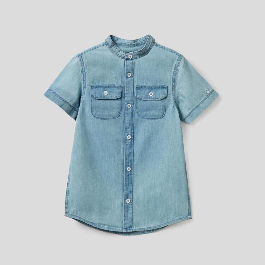 Bluse aus Denim in 100% Baumwolle