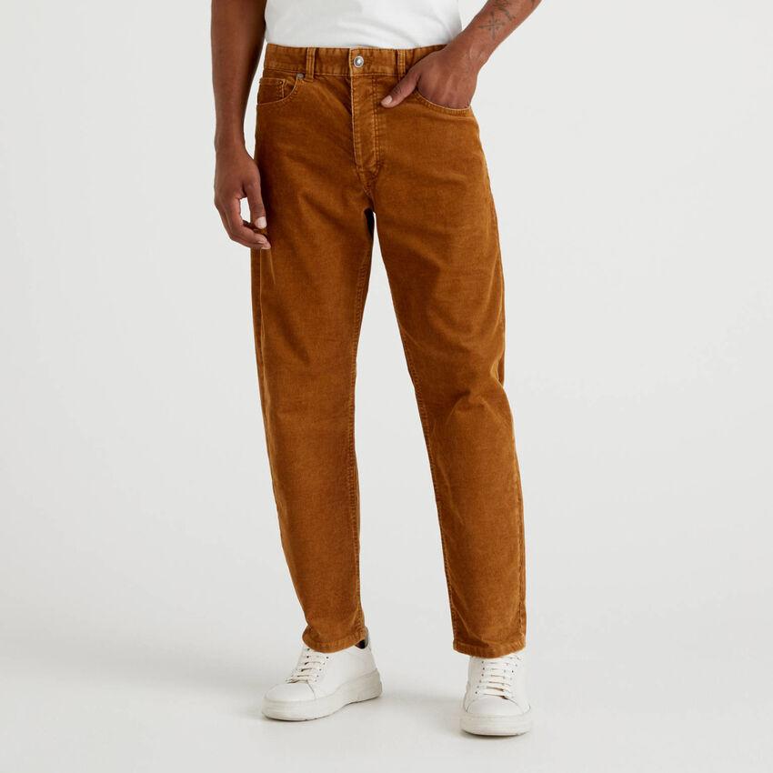 Five-Pocket-Hose aus Samt