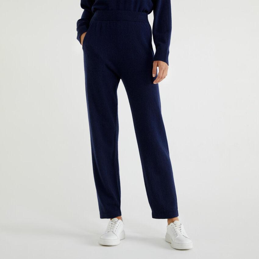 Hose aus Cashmere und Schurwolle