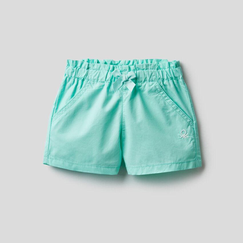 Shorts mit gerafftem Bund