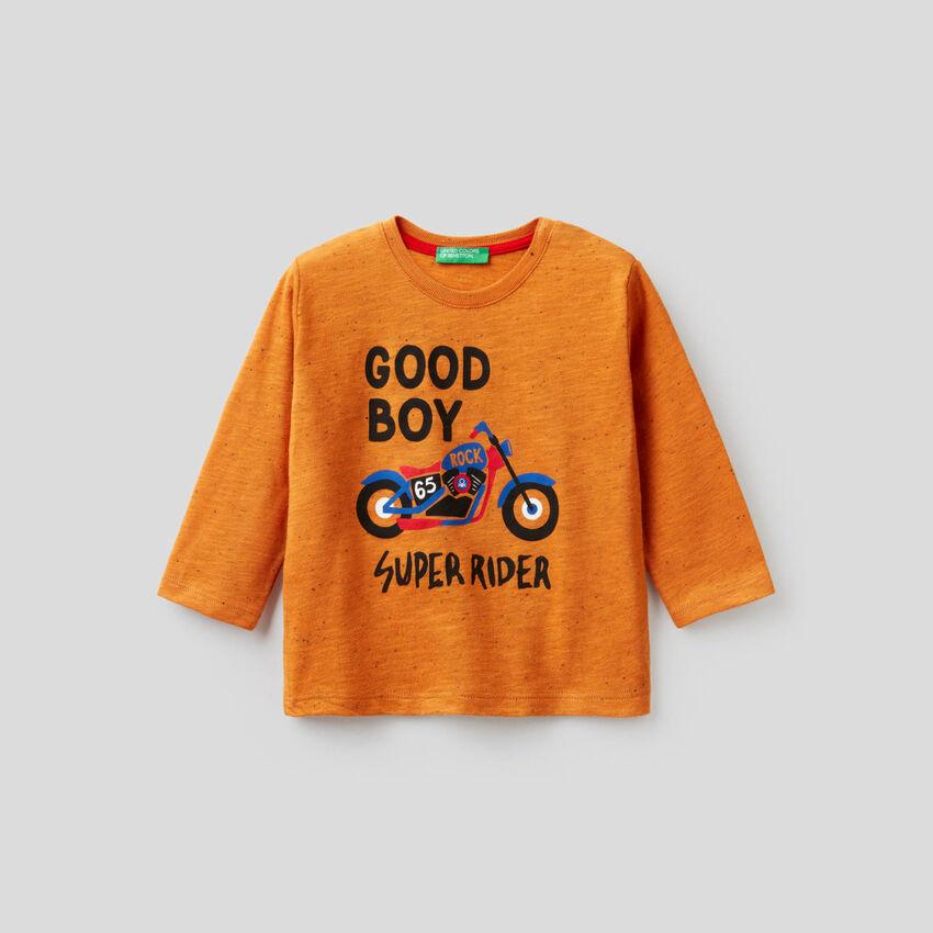 T-Shirt aus einer Baumwollmischung mit Print