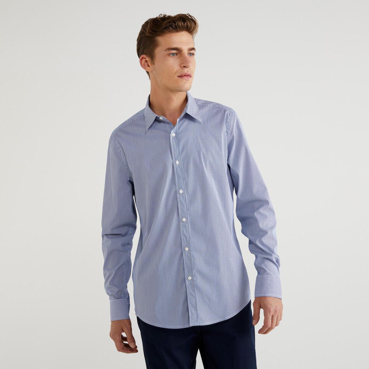 Slim-Fit-Hemd mit Streifen