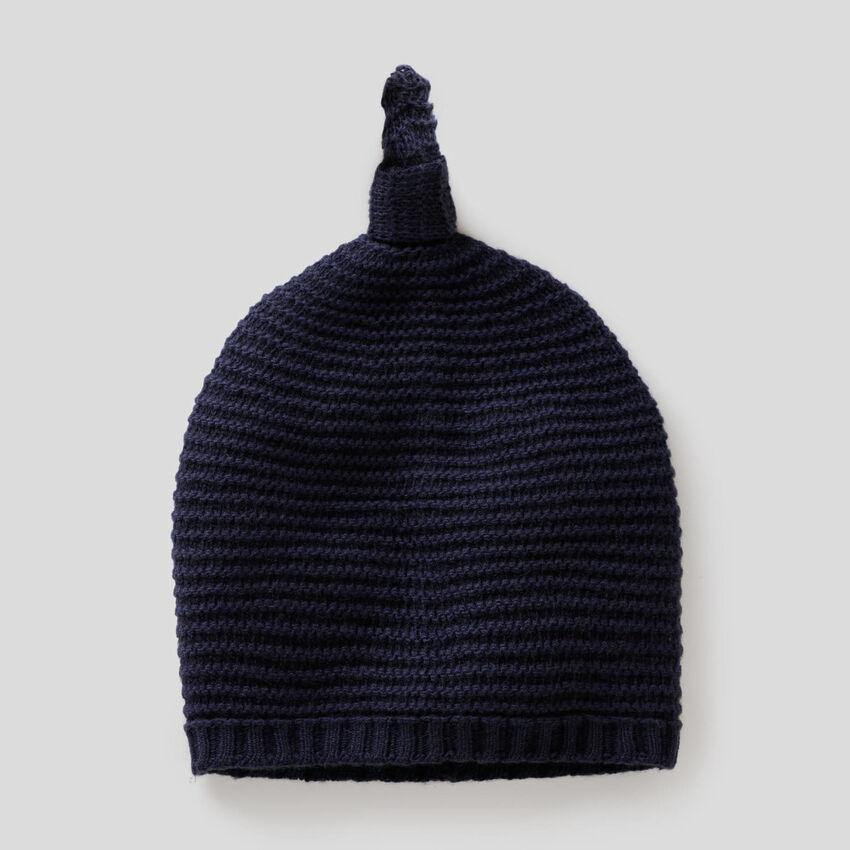 Mütze aus Trikot in einer Wollmischung