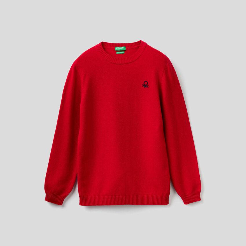 Pullover in einer Mischung aus Wolle und Cashmere