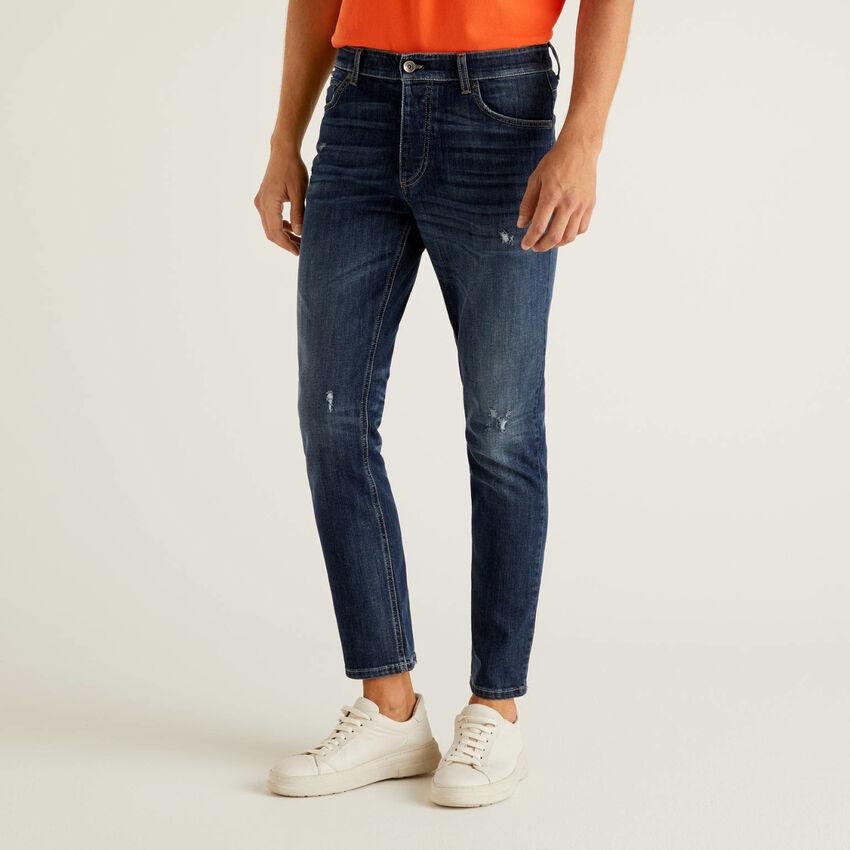 Slim-Fit-Jeans mit regulärem Bund