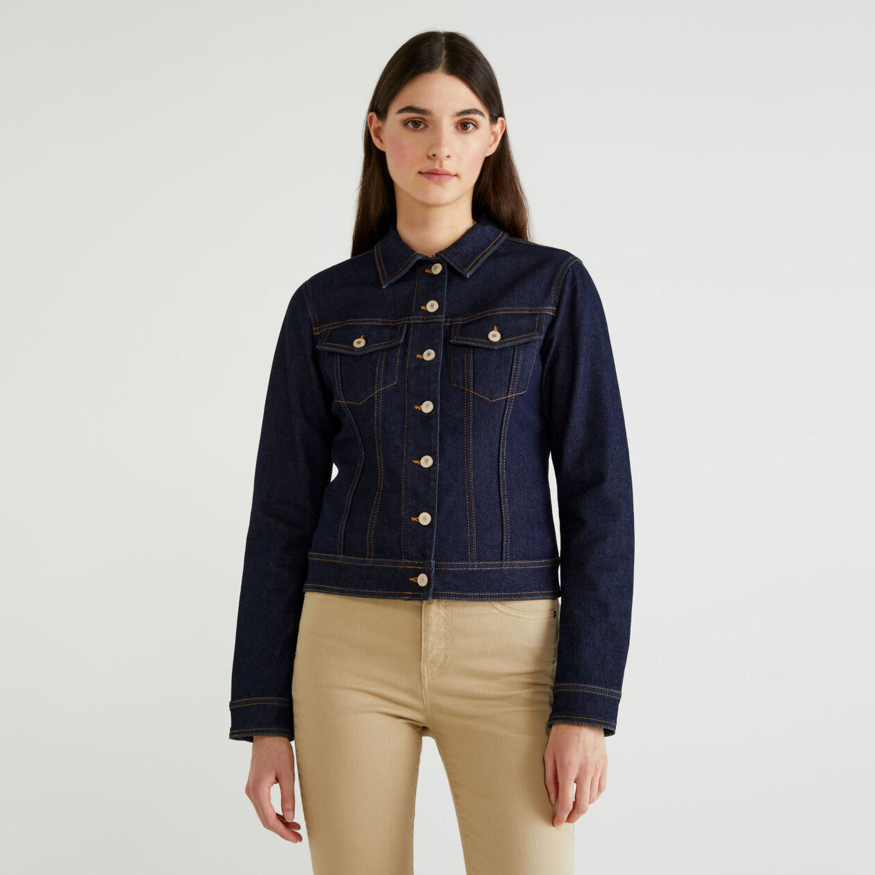 Jacke aus stretchigem Denim