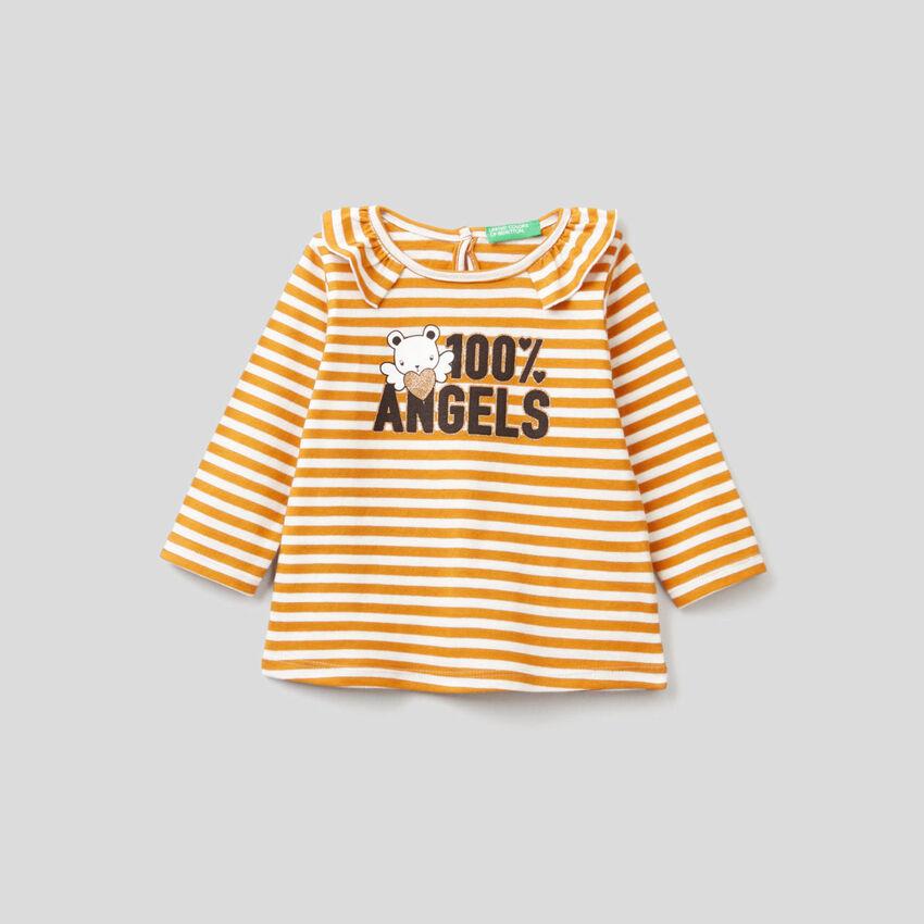 Gestreiftes T-Shirt aus Bio-Baumwolle
