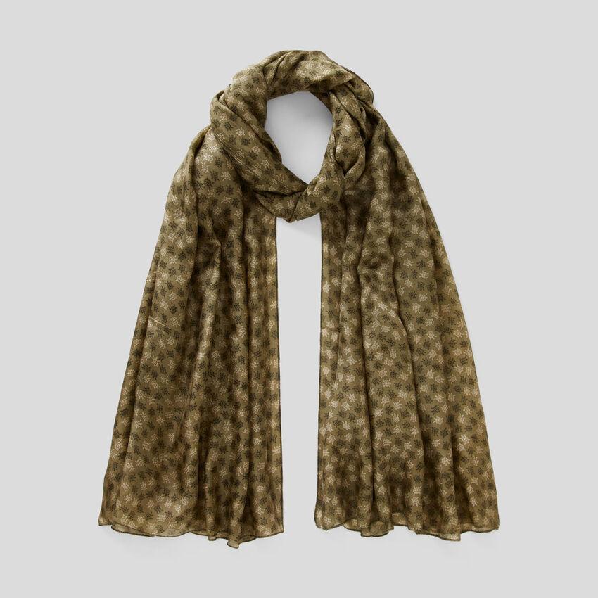 Schal aus Seide mit Musterprint