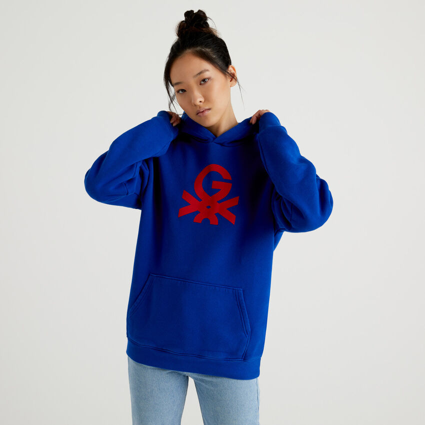 Unisex-Sweatshirt by Ghali in Bluette mit Kapuze