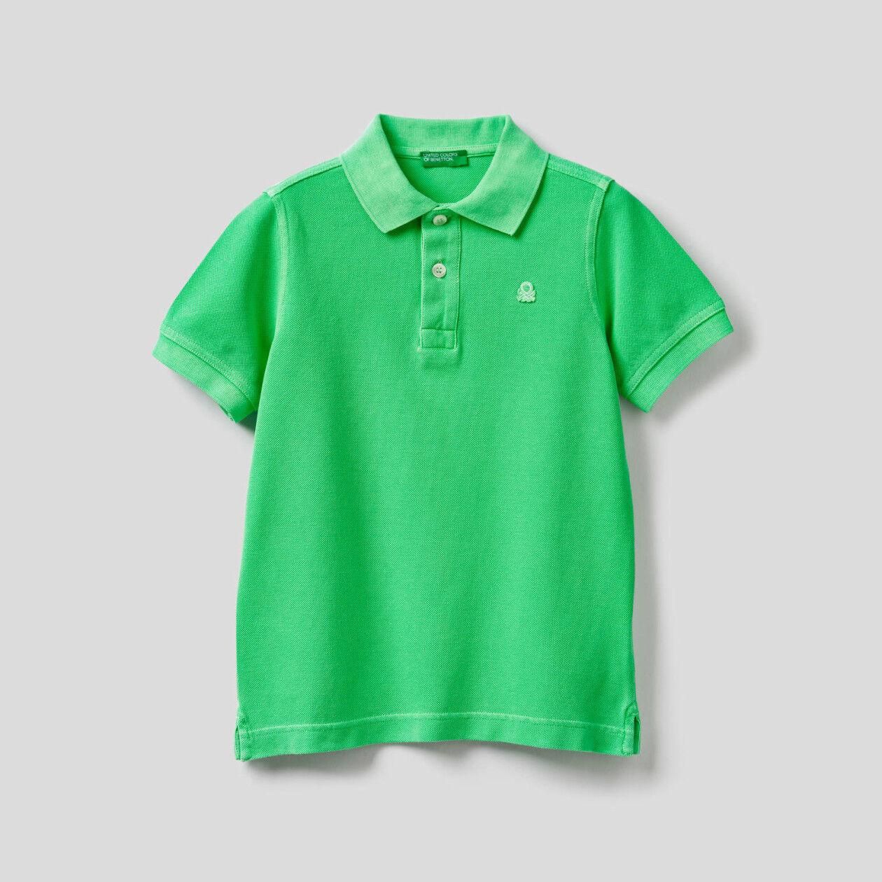 Fluoreszierendes Polo aus 100% Baumwolle