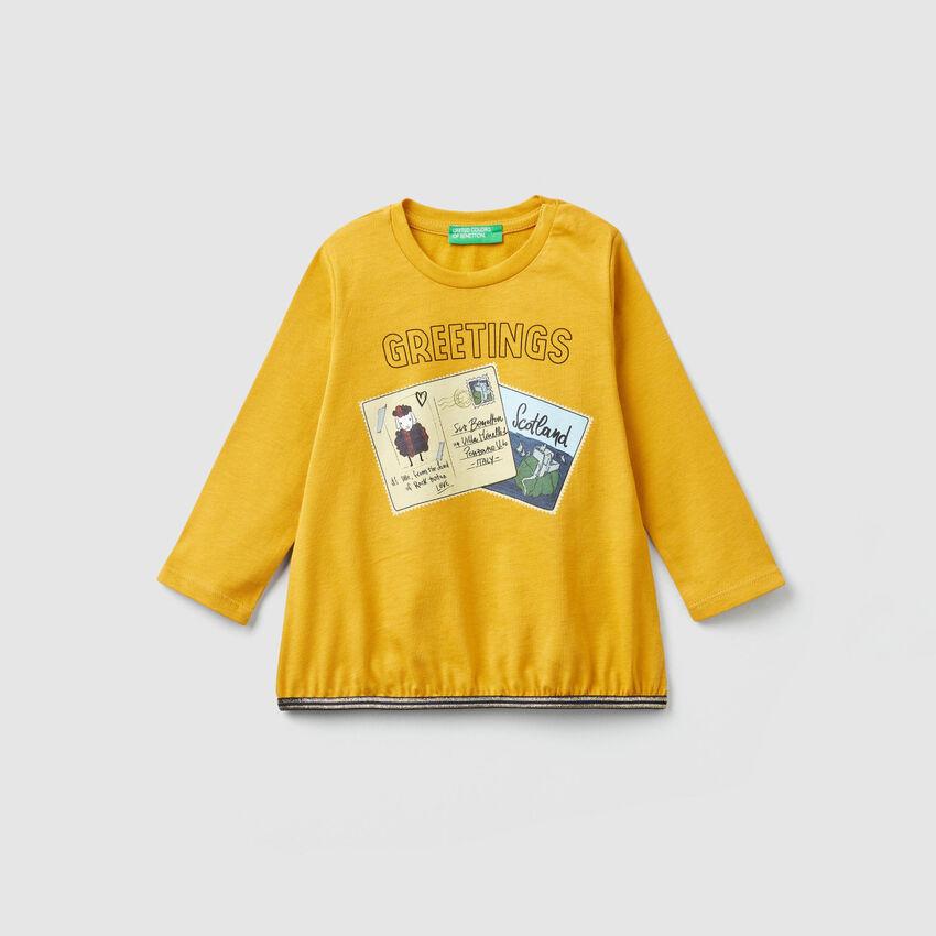 T-Shirt mit Postkartenprint