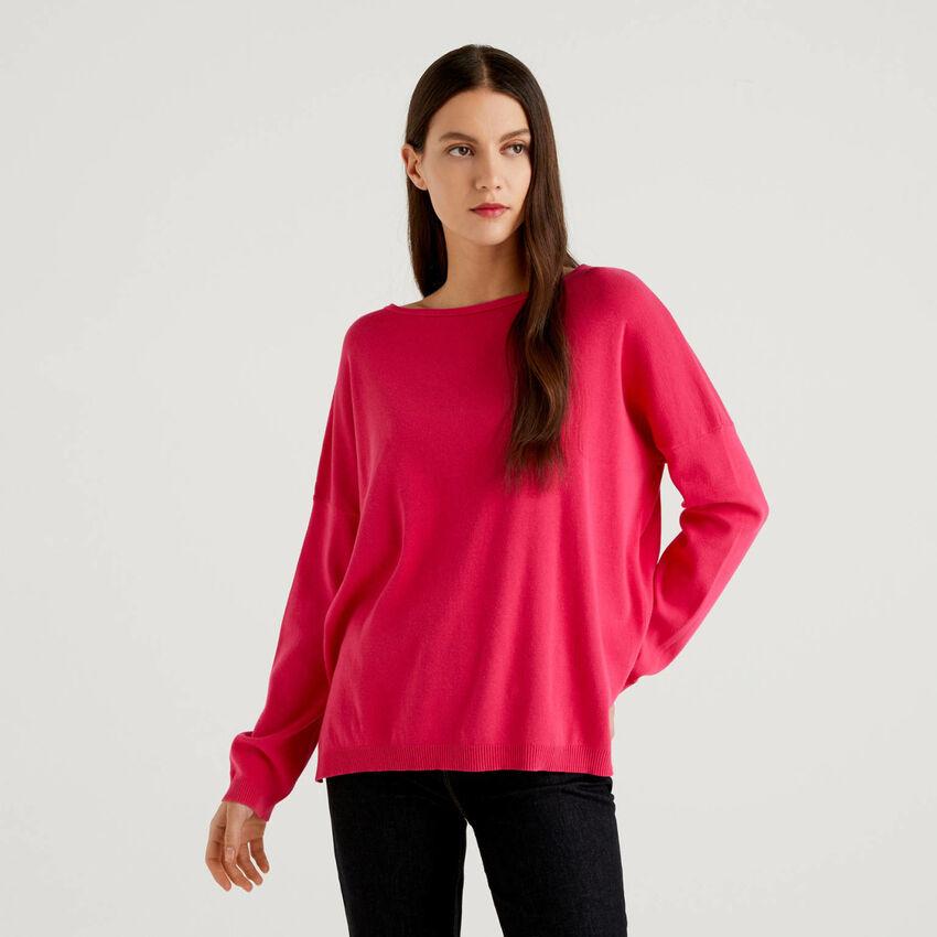 Pullover aus Baumwolle mit Rundausschnitt