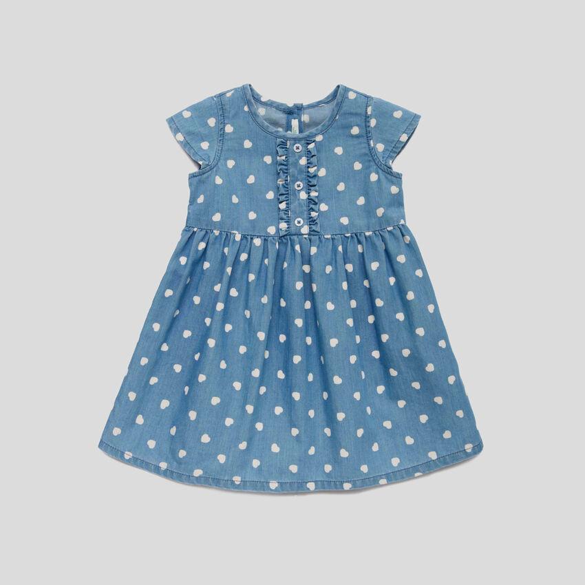 Kleid mit All-over-Herzmuster