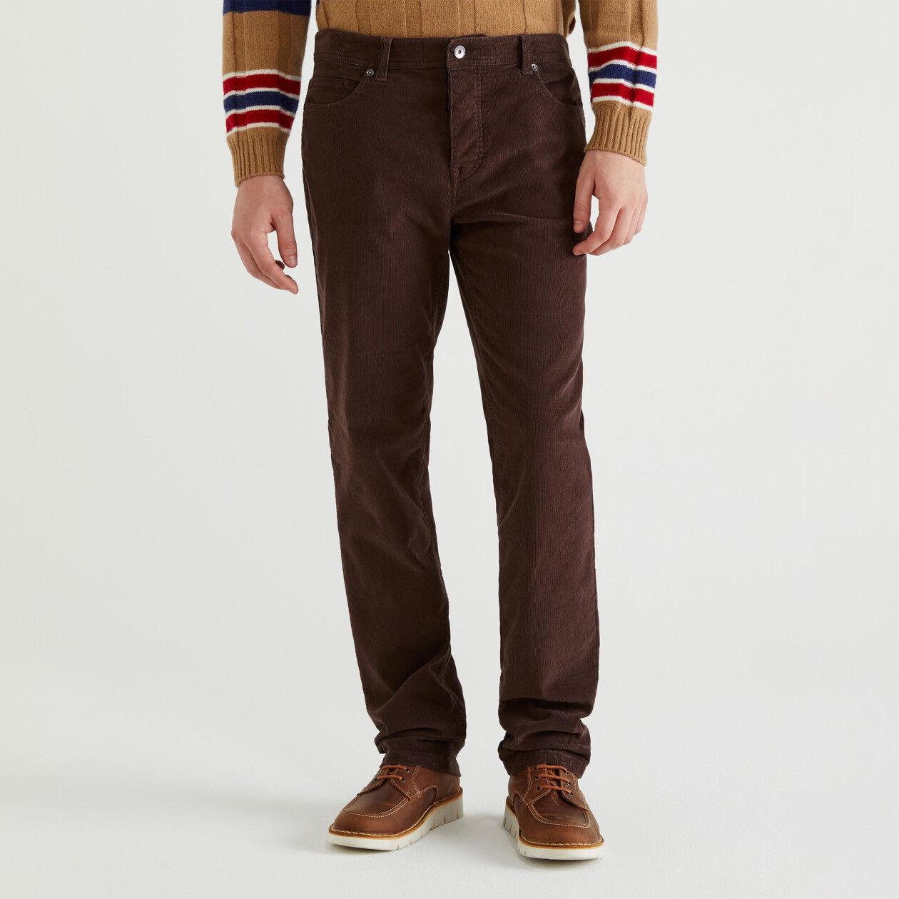 5-Pocket-Hose aus Cordsamt