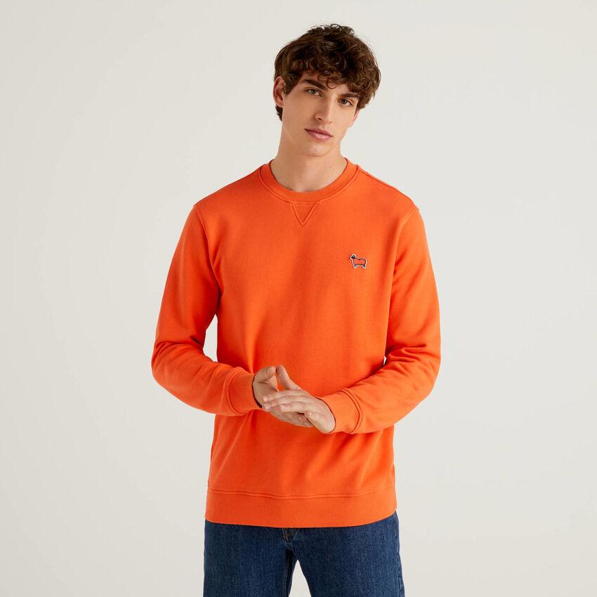Einfarbiges Sweatshirt aus Bio-Baumwolle