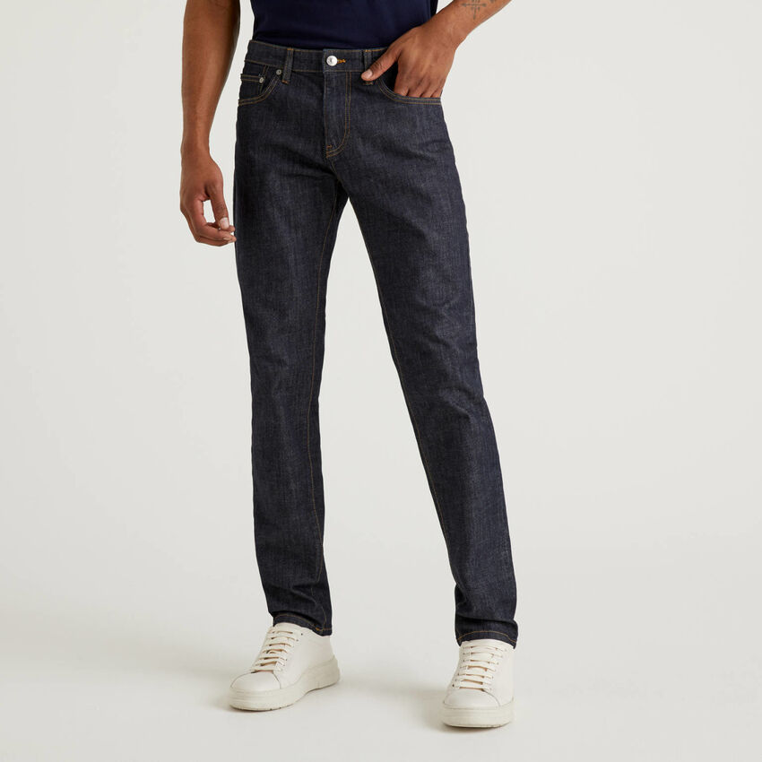 Straight-Fit-Jeans aus stretchiger Baumwolle
