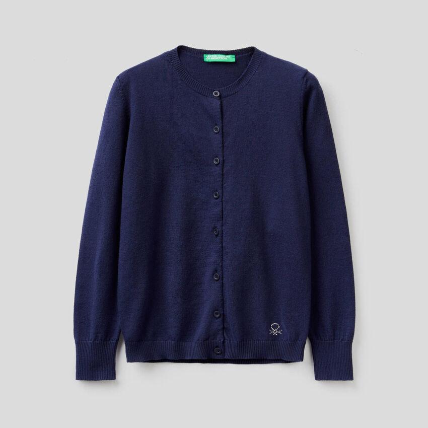 Strickjacke aus Trikot in 100% Baumwolle