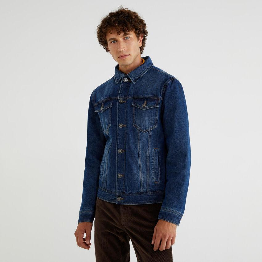 Wattierte Jeansjacke