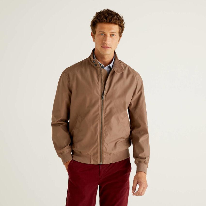 Jacke aus einer Baumwollmischung
