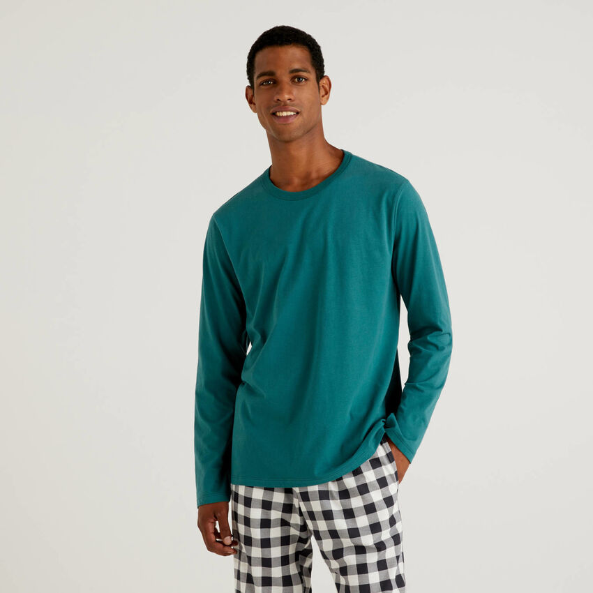 T-Shirt aus warmer, langfaseriger Baumwolle